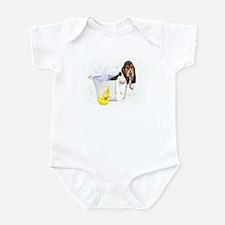 Bubble Bath Basset Infant Bodysuit