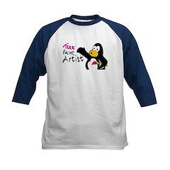 Tux Paint Artist Kids Baseball Jersey
