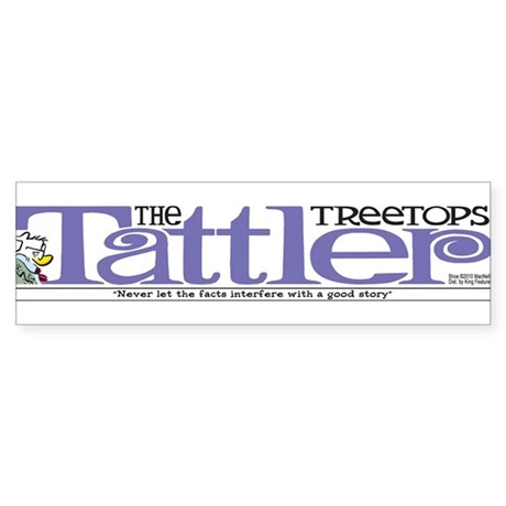 Treetops-Tattler Flag (Cosmo) Bumper Sticker