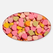 Candy Hearts Oval Decal