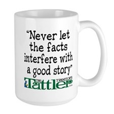 Never Let the Facts... (Shoe) Large Mug