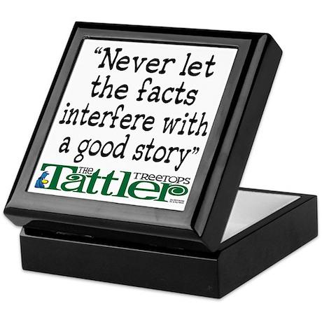 Never Let the Facts... (Shoe) Keepsake Box