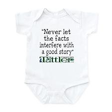 Never Let the Facts... (Shoe) Infant Bodysuit