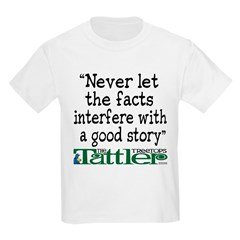 Never Let the Facts... (Shoe) T-Shirt