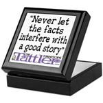 Never Let the Facts... (Cosmo Keepsake Box