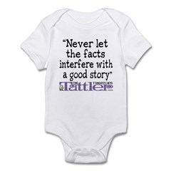Never Let the Facts... (Cosmo Infant Bodysuit