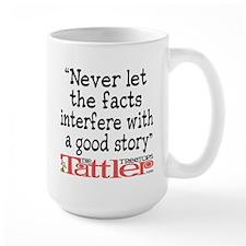 Never Let the Facts... (Roz) Large Mug