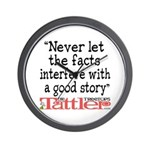 Never Let the Facts... (Roz) Wall Clock