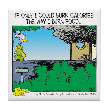 Burn Calories Tile Coaster