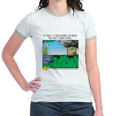 Burn Calories Jr. Ringer T-Shirt