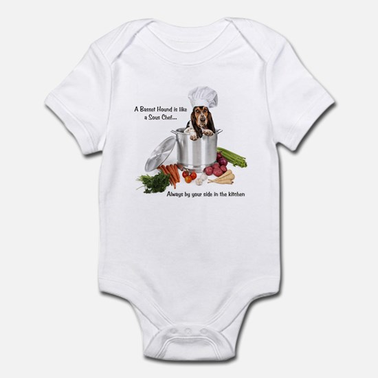 Basset Chef Infant Bodysuit