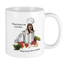 Basset Chef Small Mug
