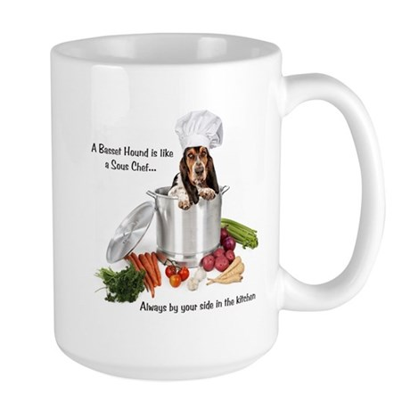 Basset Chef Large Mug