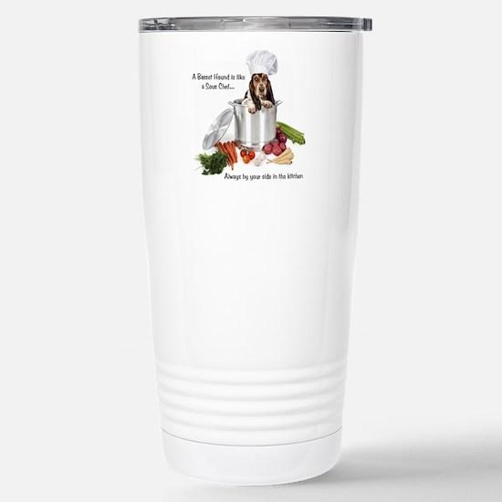Basset Chef Stainless Steel Travel Mug