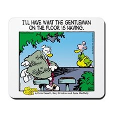 The Gentleman on the Floor Mousepad