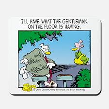 The Gentleman on the Floor Mousepad