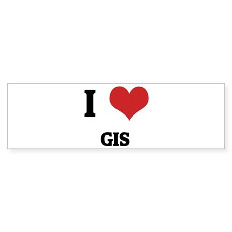 I Love GIS Bumper Sticker