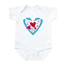 Heart flower Infant Bodysuit