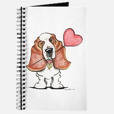 Basset Heart Balloon Journal