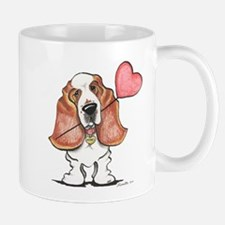 Basset Heart Balloon Mug