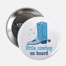 "Little Cowboy On Board 2.25"" Button"