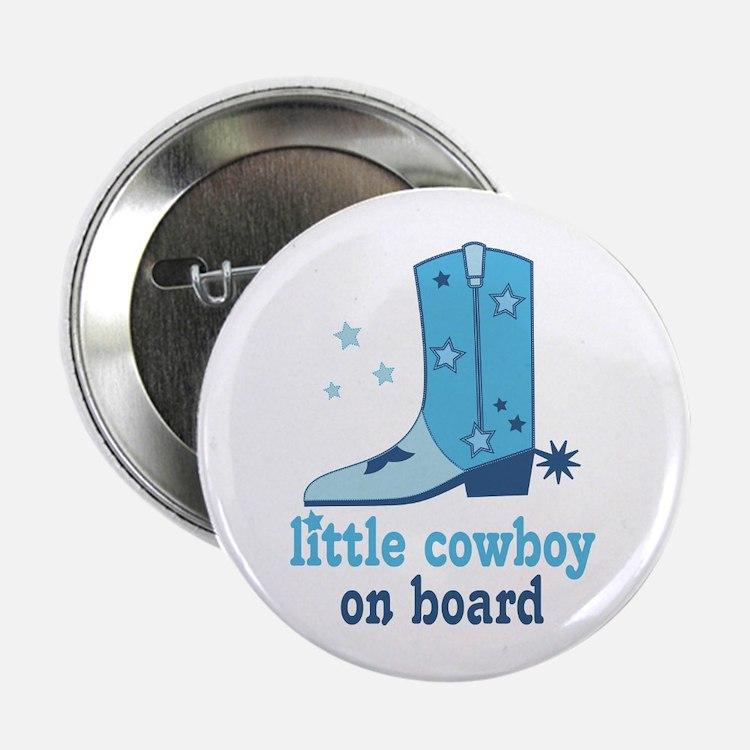 "Little Cowboy On Board 2.25"" Button"