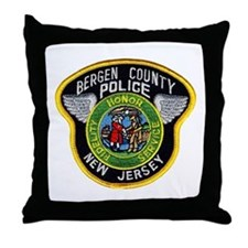 Bergen County Police Throw Pillow