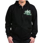 NYJ - ground-n-pound - Zip Hoodie (dark)
