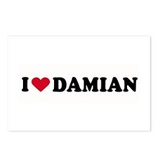 I LOVE DAMIAN ~  Postcards (Package of 8)
