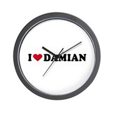 I LOVE DAMIAN ~  Wall Clock