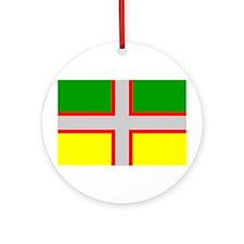Saguenay-Lac-Saint-Jean Flag Ornament (Round)
