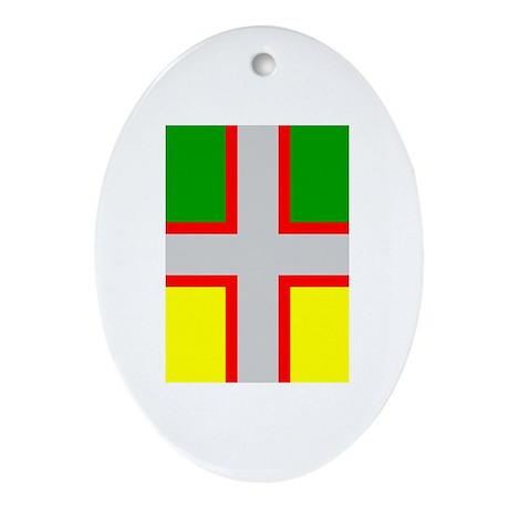Saguenay-Lac-Saint-Jean Flag Oval Ornament