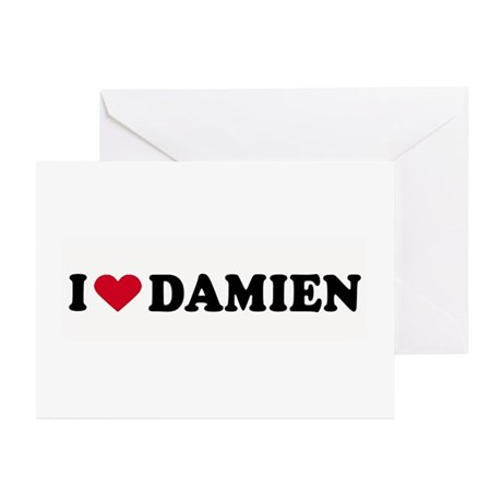 I LOVE DAMIEN ~ Greeting Cards (Pk of 10)