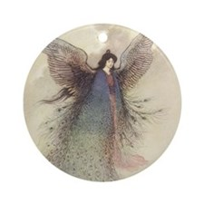 Warwick Goble's Moon Maiden Ornament (Round)