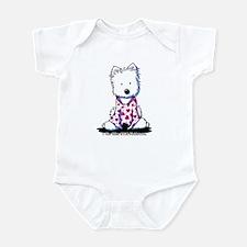 Valentine PJs Westie Infant Bodysuit