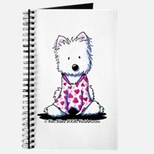 Valentine PJs Westie Journal