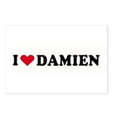 I LOVE DAMIEN ~  Postcards (Package of 8)