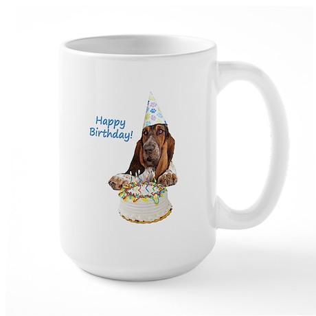 Basset Birthday Large Mug