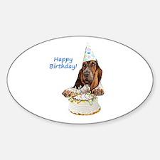 Basset Birthday Oval Bumper Stickers
