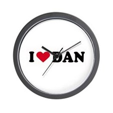 I LOVE DAN ~  Wall Clock
