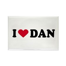 I LOVE DAN ~ Rectangle Magnet