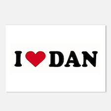 I LOVE DAN ~  Postcards (Package of 8)