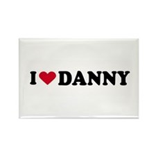 I LOVE DANNY ~ Rectangle Magnet