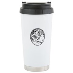 Reading Woman Travel Mug