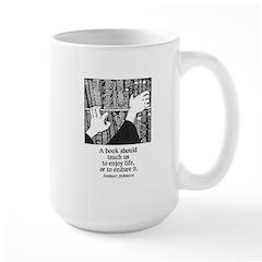 Books, Enjoy or Endure Large Mug
