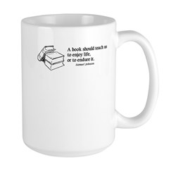 Books, Enjoy or Endure Large Mug