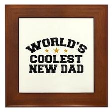 World's Coolest New Dad Framed Tile