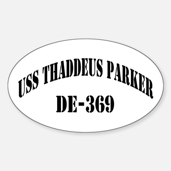 USS THADDEUS PARKER Oval Decal