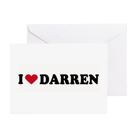 I LOVE DARREN ~ Greeting Cards (Pk of 10)