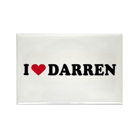 I LOVE DARREN ~ Rectangle Magnet (10 pack)